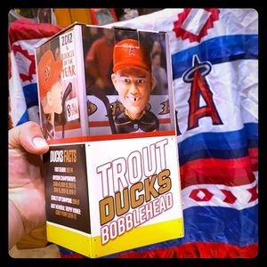 Anaheim angels poncho + mike trout bobble head!